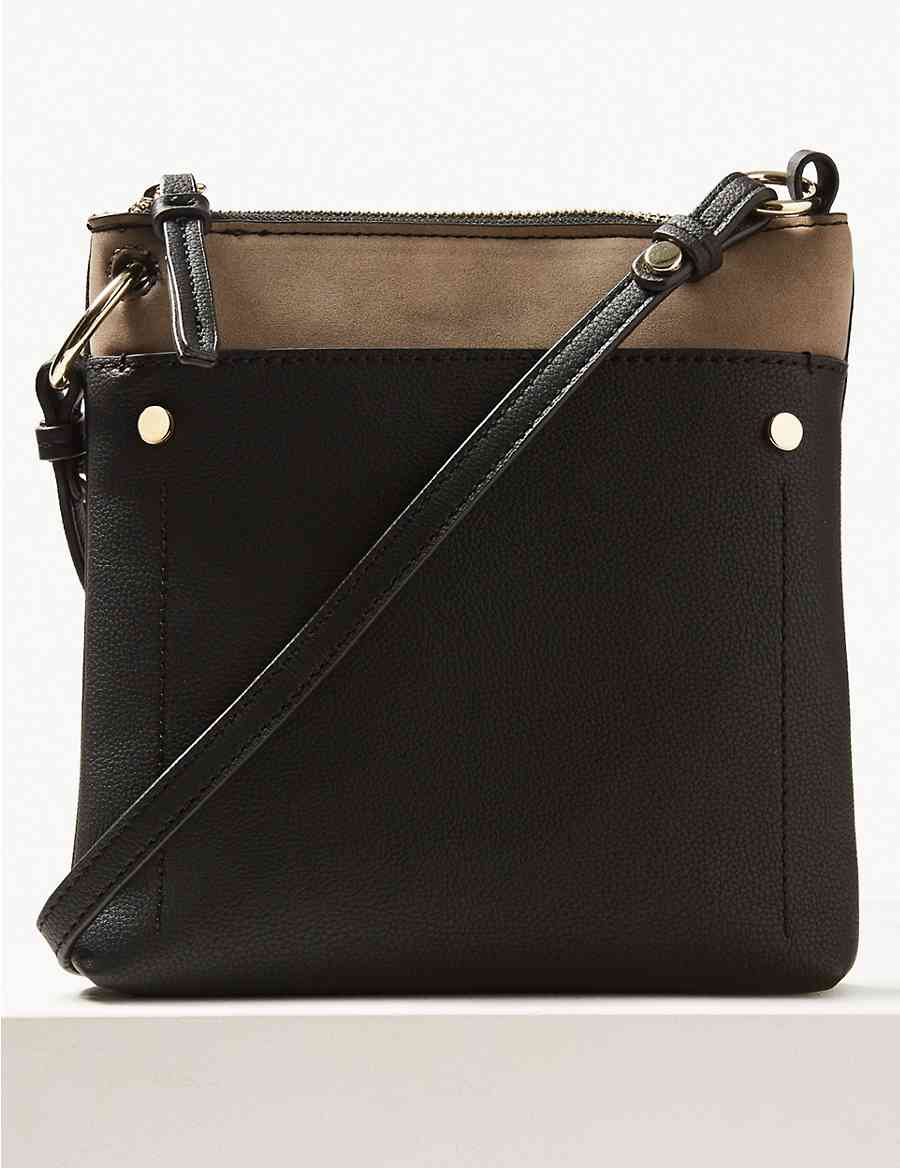 d2f08468c8 Faux Leather Front Pocket Cross Body Bag