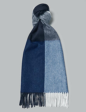 Pure Cashmere Checked Scarf