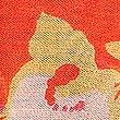 Schal mit Blumendruck, ROT MELANGE, swatch