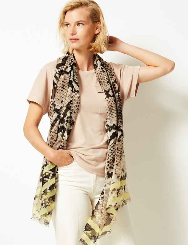 da7fb59b2f Animal Print Scarf
