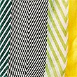 Chevron Stripe Scarf, GREEN MIX, swatch