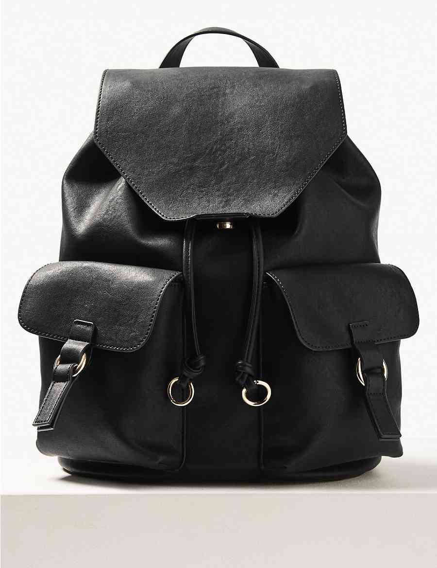 Faux Leather Backpack Bag  2d924b6f0d545
