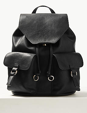 Faux Leather Backpack Bag