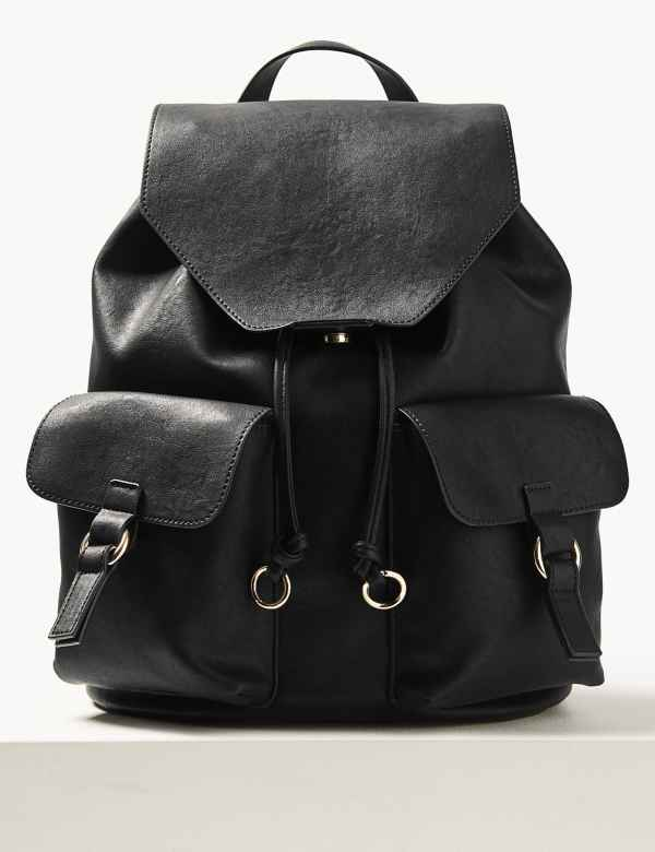 a6acbe11222 Faux Leather Backpack Bag