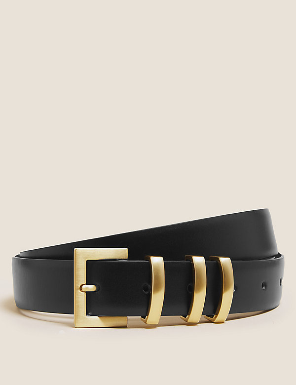 Leather Square Buckle Jean Belt