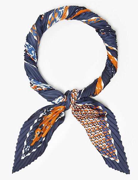 Patchwork Pleated Scarf