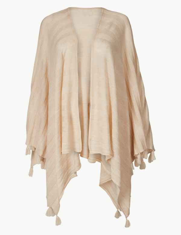 520f442378edb Textured Fringe Detail Wrap