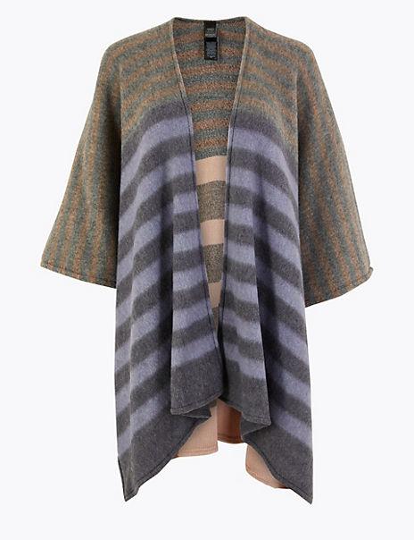 Striped Knit Wrap