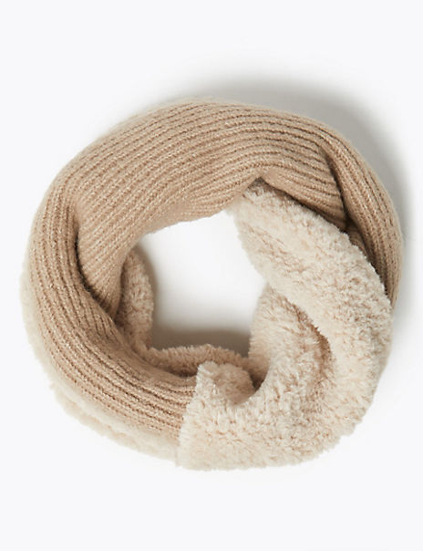 Faux Fur & Knit Snood