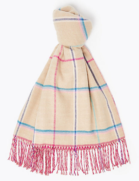 Double Sided Checked Scarf
