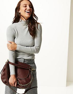 Leather Oversized Cross Body Bag