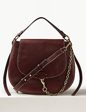 Leather Oversized Cross Body Bag