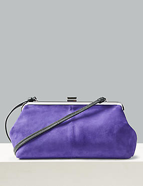Oversized Suede Clutch Bag
