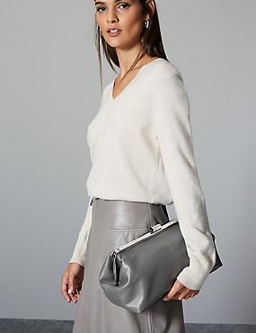 Oversized Suede Clutch Bag