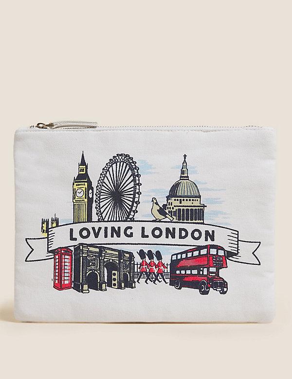 Canvas-Geldbörse Mit London-Druck