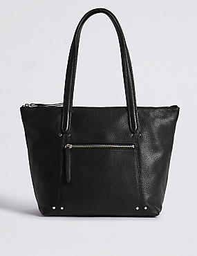 Leather Tote & Matching Cross Body Bag Set
