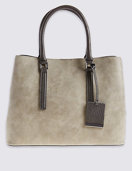 Faux Leather Soft Tote Bag
