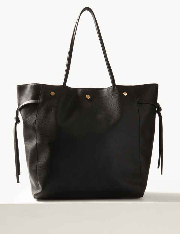 9159543fdf1d Faux Leather Shopper Bag