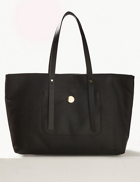 Zipped Detail Tote Bag