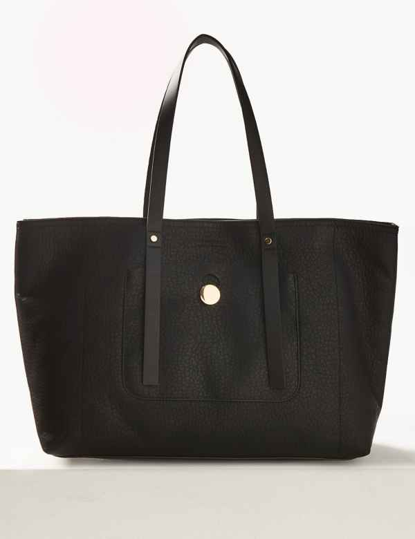 b4bc094cefd2 Zipped Detail Tote Bag