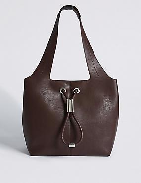 Faux Leather Hobo Bag