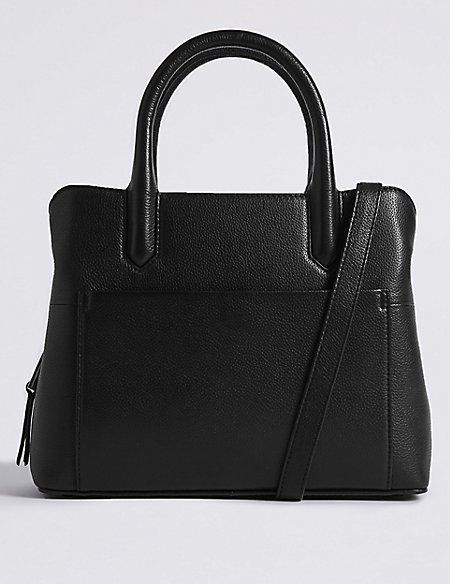 Leather Tablet Technology Tote Bag