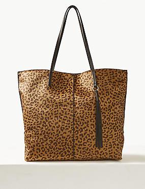 Animal Print Shopper Bag