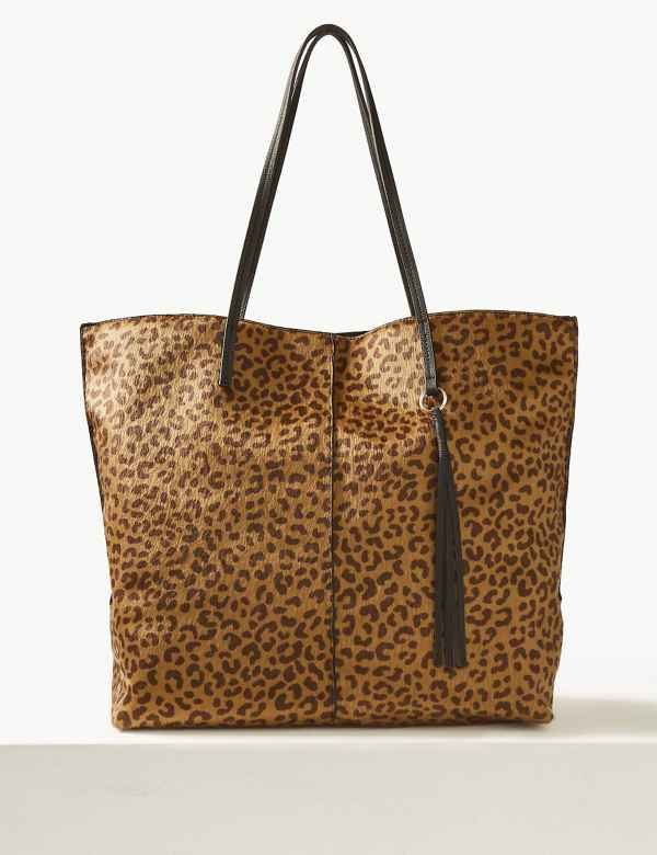 af4bdf821172 Animal Print Shopper Bag