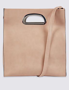 Faux Leather Ring Tote Bag