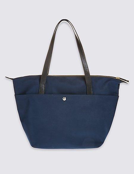 Popper Pocket Tote Bag