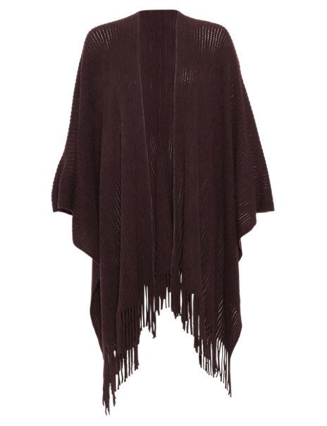 Cashmilon™ Tassel Trim Knitted Wrap