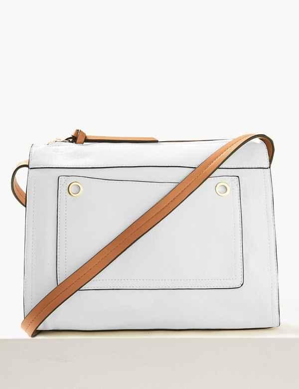 5987c2dc23 Faux Leather Messenger Bag