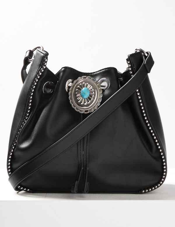 Faux Leather Cross Body Bag b23d7e3ec9