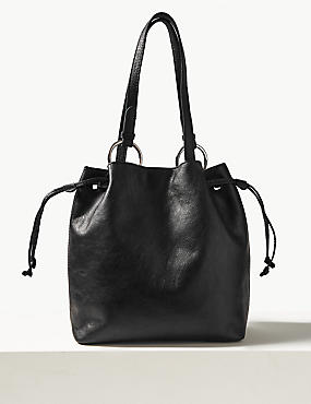 Leather Ring Shoulder Bag