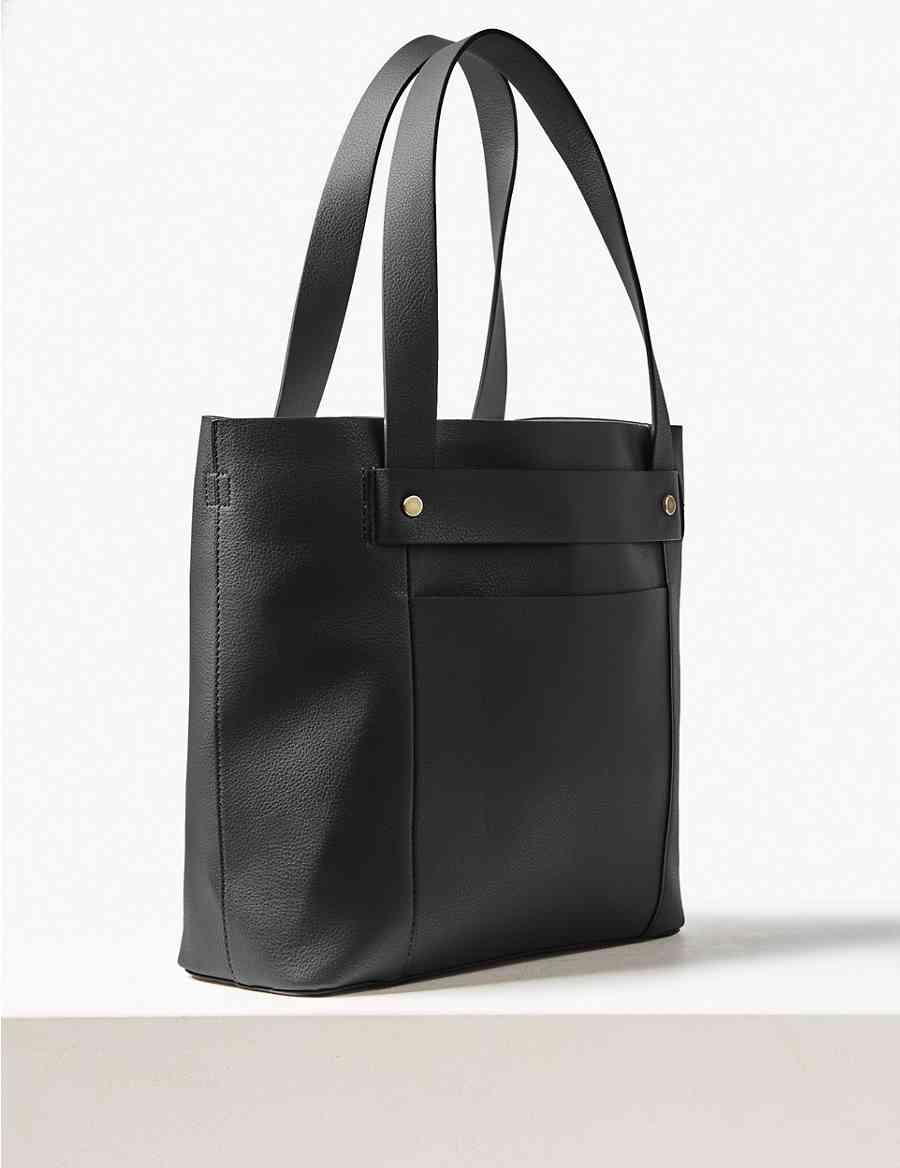 8ab68e28aa494 Strap Detail Tote Bag