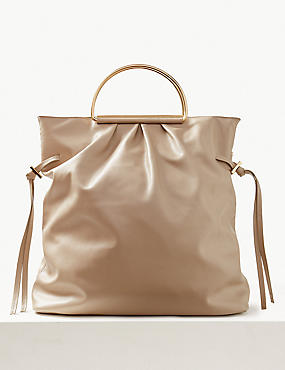 8d3083744d Faux Leather Tote Bag