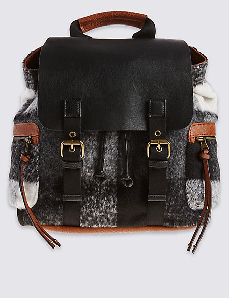 Faux Leather Rucksack Bag