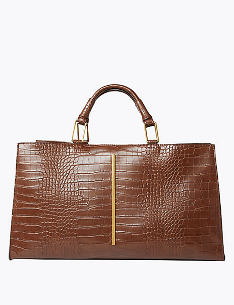 Crocodile Effect Shopper Bag