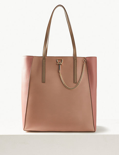 Chain Detail Shopper Bag