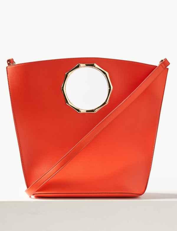 c17331ceb1d4 Faux Leather Tote Bag