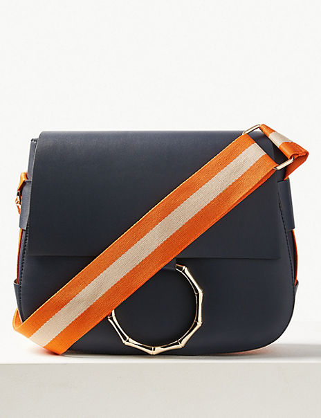 Bamboo Saddle Cross Body Bag