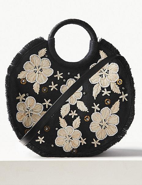 Floral Circle Cross Body Bag
