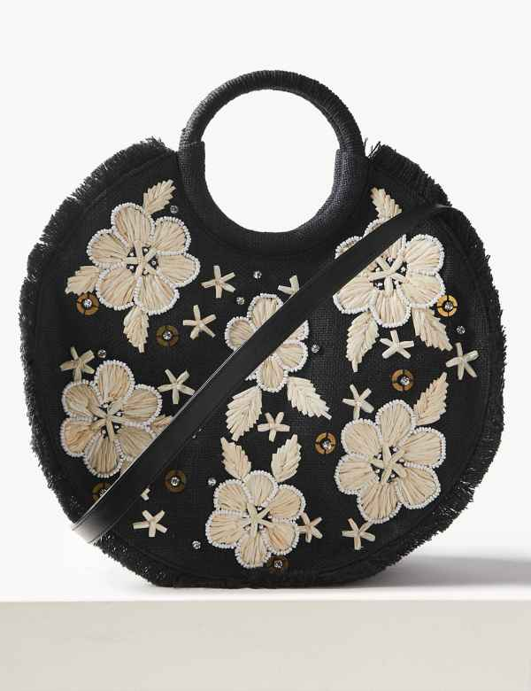 dad7213a306fb9 Floral Circle Cross Body Bag. M&S Collection