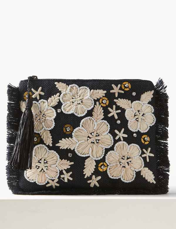 aa962470755 Embroidered Clutch Bag
