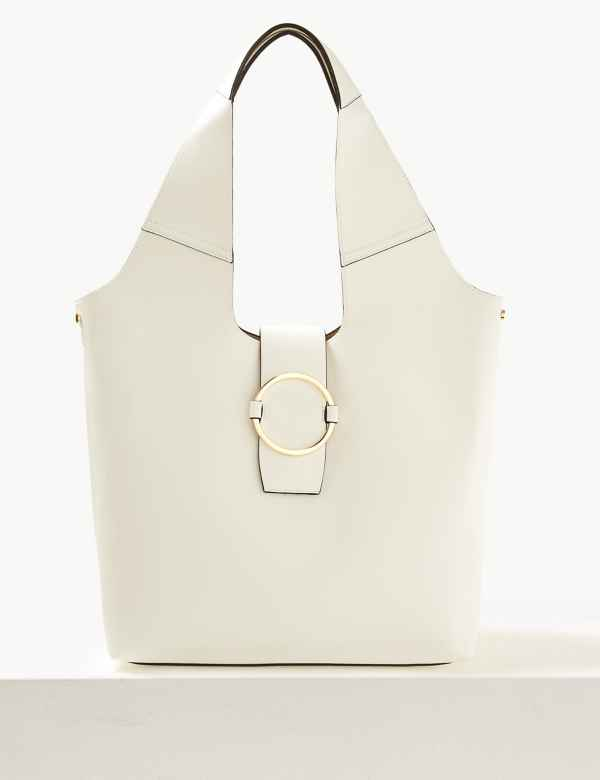 Faux Leather Ring Detail Hobo Bag 3698daad01a8b