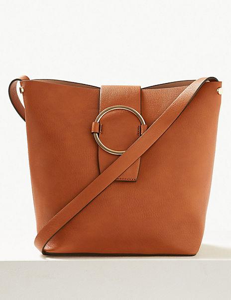 Ring Detail Bucket Bag