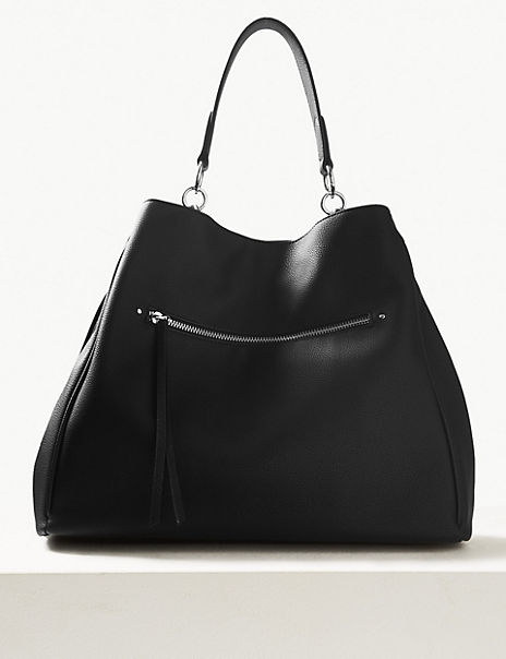 Zipped Detail Hobo Bag