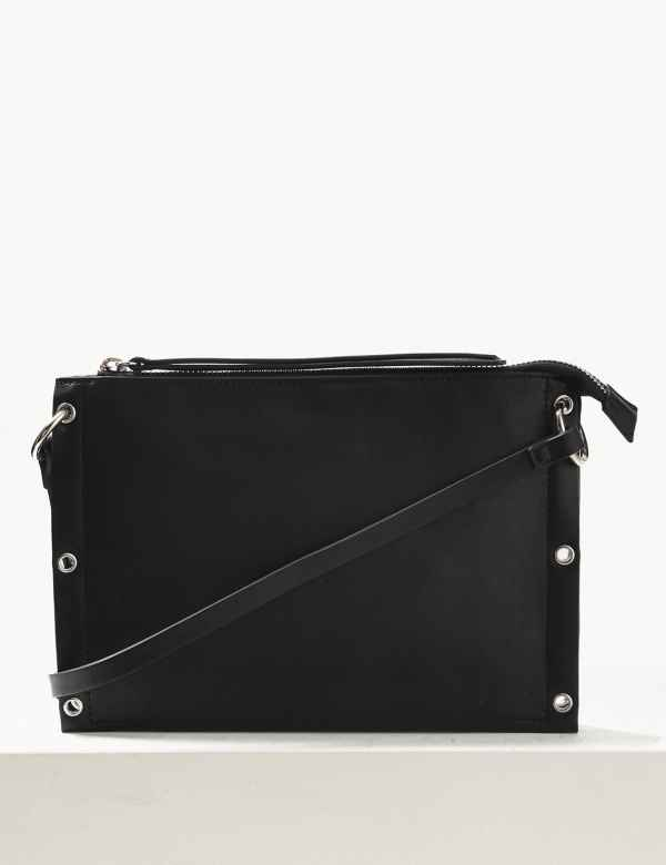69802297683 Zipped Detail Cross Body Bag