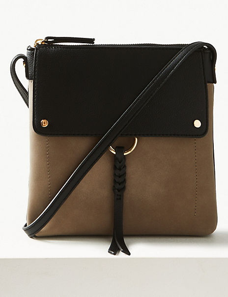 Zipped Detail Messenger Bag