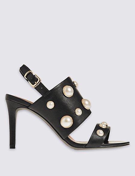 Stiletto Pearl Sandals with Insolia®